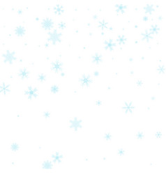 falling snowflakes on white background winter vector image