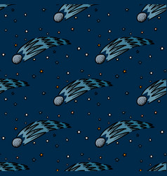 falling star seamless pattern vector image