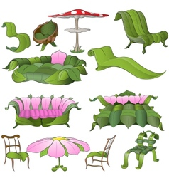 fantasy furniture vector image