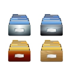 File Cabinet with Documents vector image
