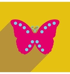 Flat icon with long shadow flying butterflies vector