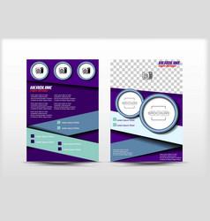 Flyer design simple templates purple color vector