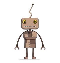 Funny cartoon robot vector image