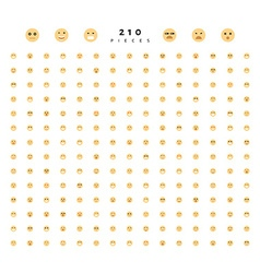 Great set of 224 emotions isolated on white vector