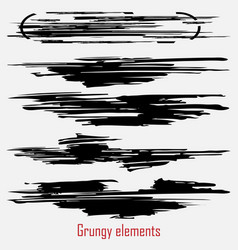grungy set vector image