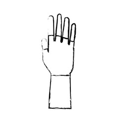 Hand open showing finger part icon vector