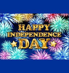 happy independence day poster design banner with vector image