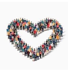 Heart love people sign vector