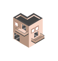 House architecture urban building isometric style vector