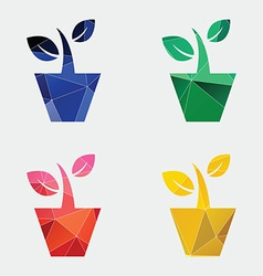 Houseplant icon Abstract Triangle vector