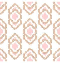 Ikat seamless pattern Abstract geometric vector