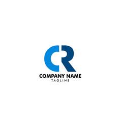 Initial letter cr logo template design vector