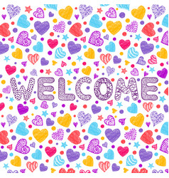 inscription welcome on white background vector image