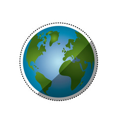 Isolate globe world vector