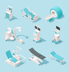 isometric medical equipment hospital diagnostic vector image