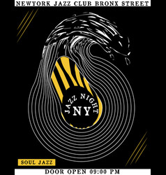 jazz club music poster tee design vector image