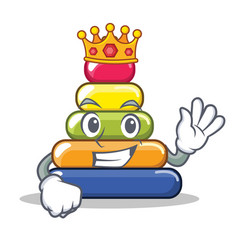 King pyramid ring character cartoon vector