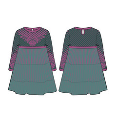 knitted dress for a girl vector image