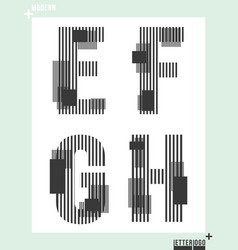 letter font template modern design vector image