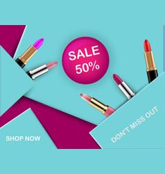 Lipstick package design vector