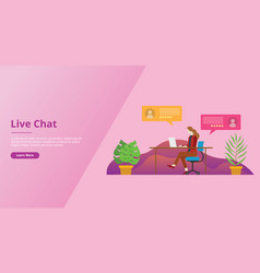 live chatting technology for website template ui vector image
