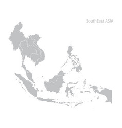 Map southeast asia vector