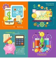 Mbanking Finance Market Management vector image