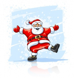 merry christmas santa claus dancing vector image