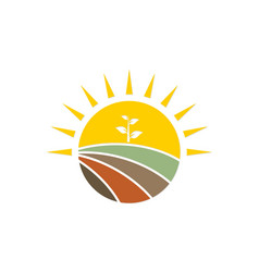 Nature seed farm logo vector