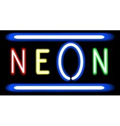 Neon sign vector