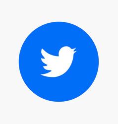 Network social twitter vector
