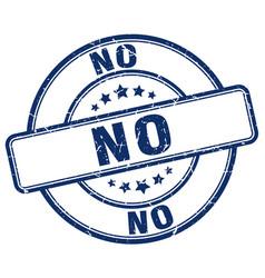 No blue grunge round vintage rubber stamp vector