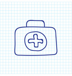of trip symbol on first aid vector image