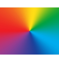 Radial gradient rainbow background vector image