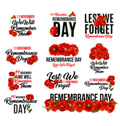 Remembrance day red poppy flower icon design vector