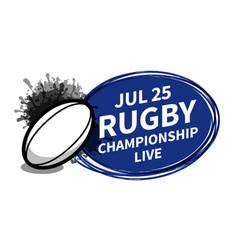 Rugby american football sport scoreboard vector