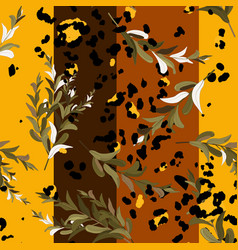 safari africa design leopard and tiger jaguar vector image