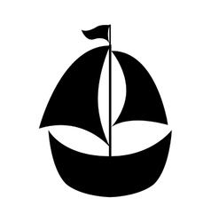 sailboat toy isolated icon vector image