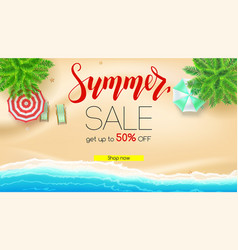 sale summer offer get up to fifty percent vector image