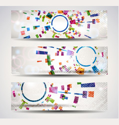 Set of abstract header-banner vector