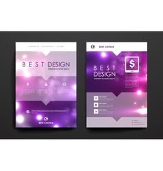 Set of brochure poster design templates in neon vector