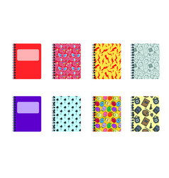 set of colored covers modern decoration shapes vector image