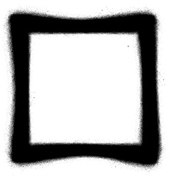 Square Graffiti spray icon in black over white vector image