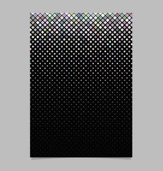 square pattern brochure template - tile mosaic vector image