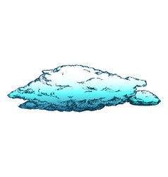 Stormy flying cloud and overcast retro vector