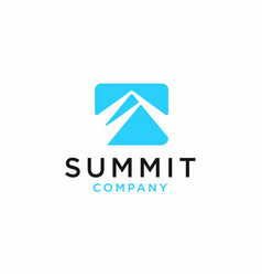 Summit icon of mountain vector