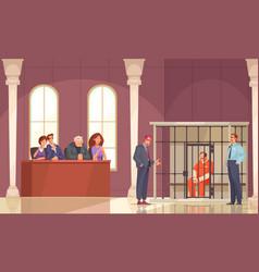 Trial jury law composition vector