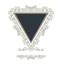 Triangle decorative vintage frame icon vector