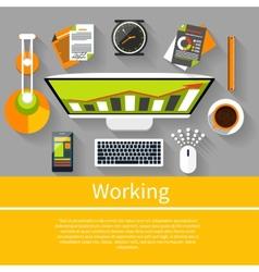 Working place witn equipment vector