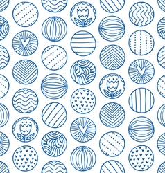 Abstract circles doodle pattern vector image